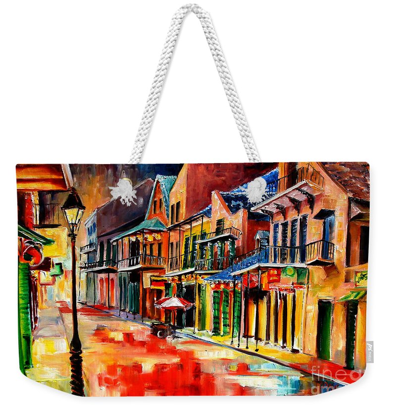 New Orleans Weekender Tote Bag featuring the painting New Orleans Jive by Diane Millsap