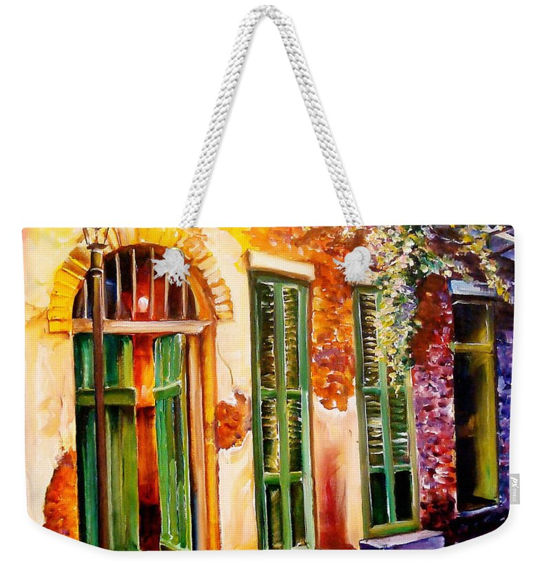 New Orleans Weekender Tote Bag featuring the painting New Orleans Mystery by Diane Millsap
