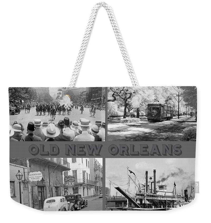 New Orleans Nostalgia Weekender Tote Bag featuring the painting New Orleans Nostalgia by John Malone