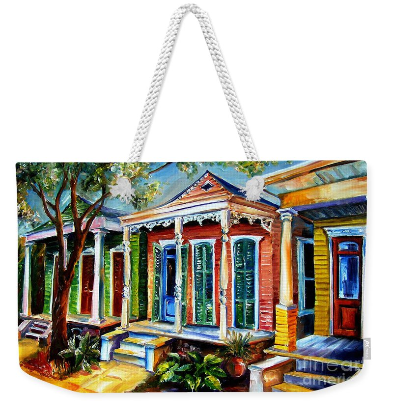 New Orleans Paintings Weekender Tote Bag featuring the painting New Orleans Plain And Fancy by Diane Millsap