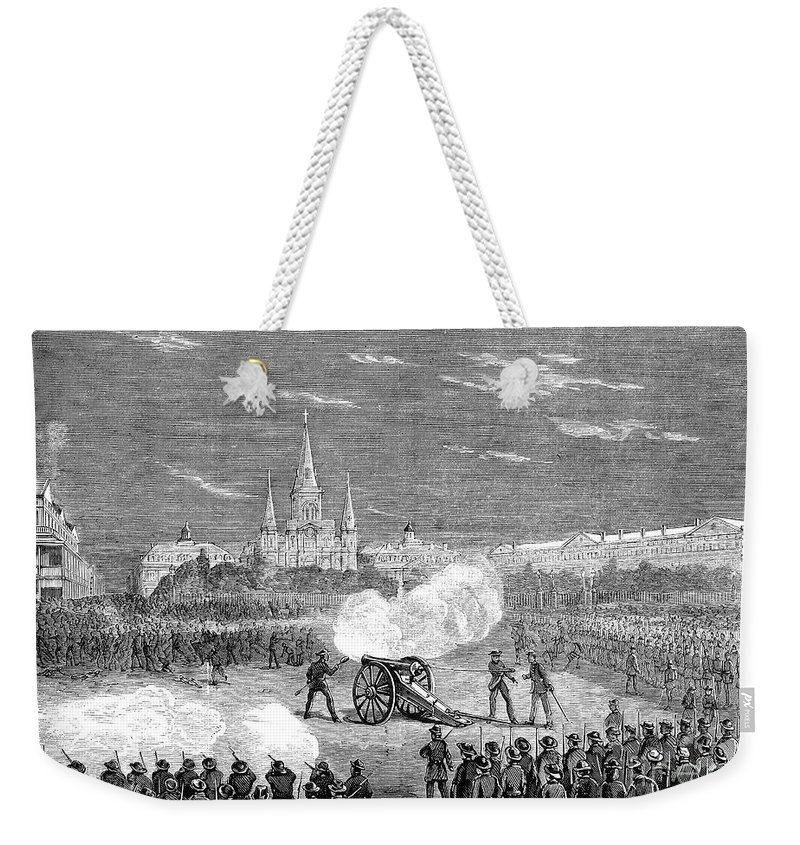 1873 Weekender Tote Bag featuring the photograph New Orleans: Riot, 1873 by Granger
