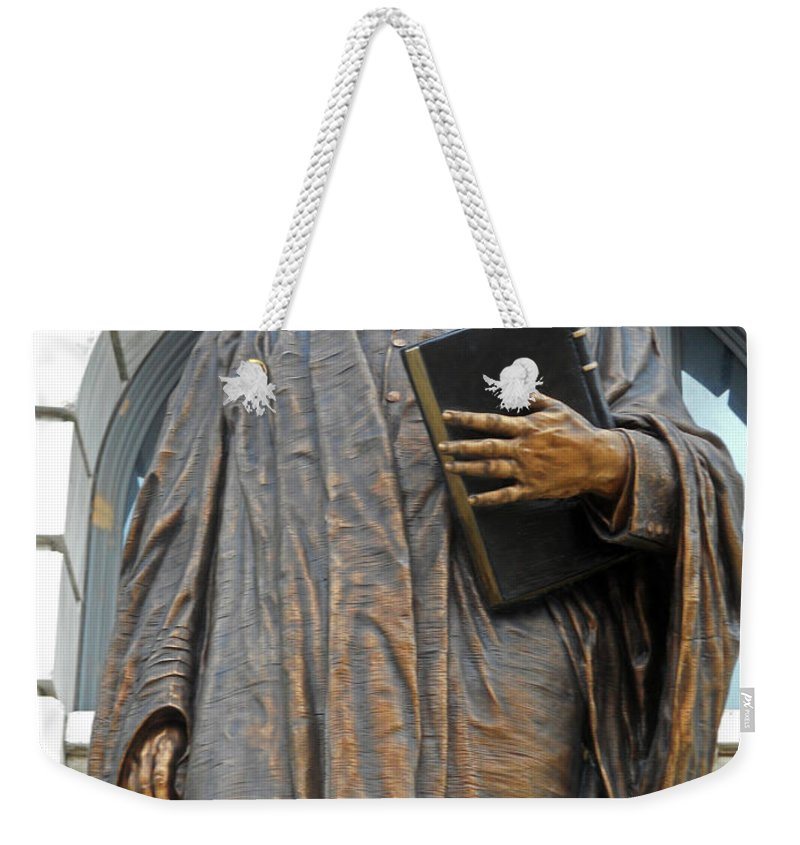New Orleans Weekender Tote Bag featuring the photograph New Orleans Statues 5 by Ron Kandt