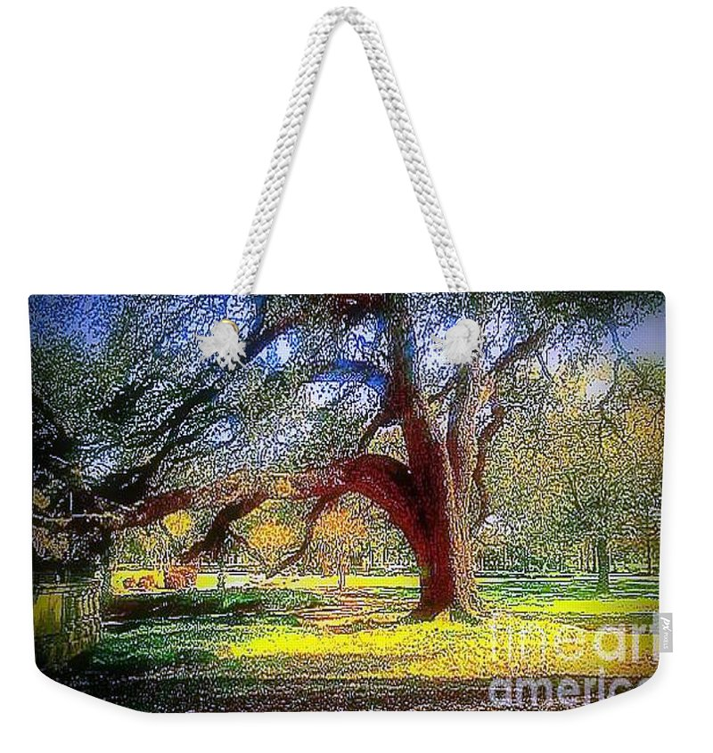 Nola Weekender Tote Bag featuring the photograph New Orleans Sunday In The Park With George by Michael Hoard