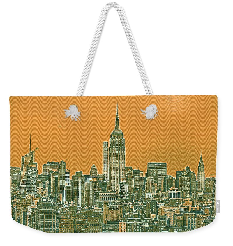 Nature Weekender Tote Bag featuring the painting New Tork City Ny Travel Poster 4 by Celestial Images