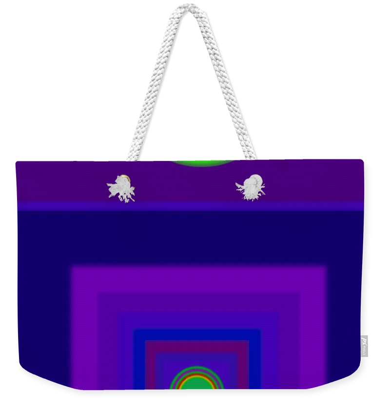 Classical Weekender Tote Bag featuring the digital art New Violet by Charles Stuart