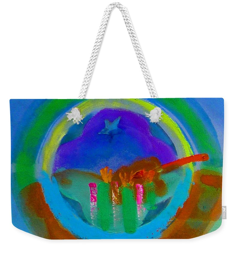 Love Weekender Tote Bag featuring the painting New World Spring by Charles Stuart