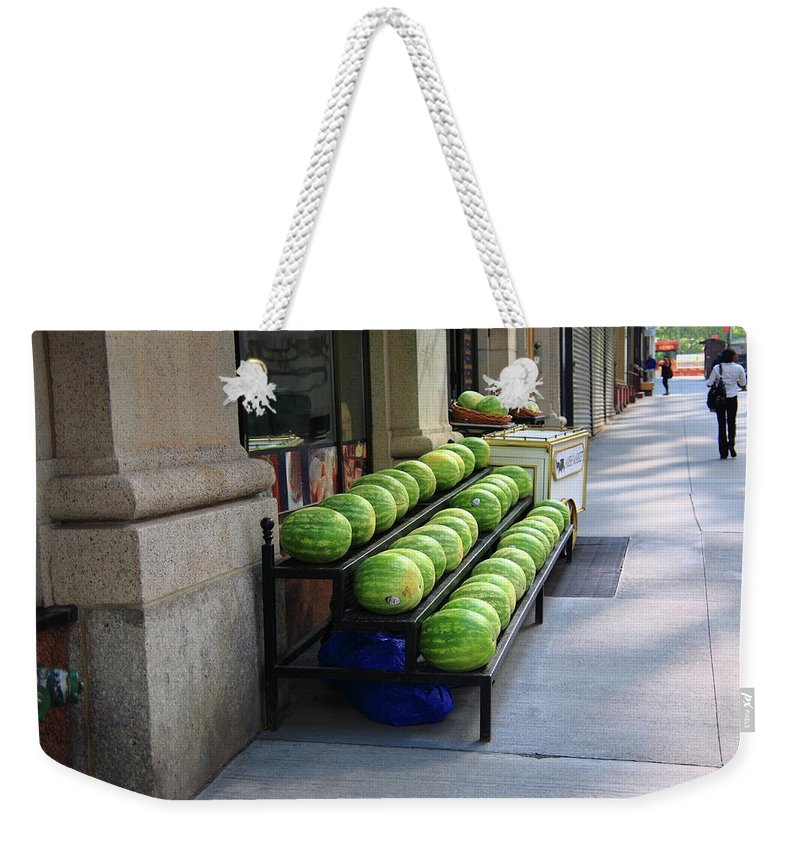 Buy Weekender Tote Bag featuring the photograph New York City Market by Frank Romeo