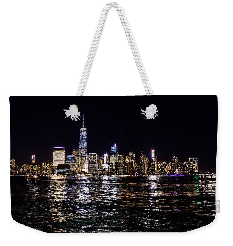 New York Weekender Tote Bag featuring the photograph New York by M G Whittingham