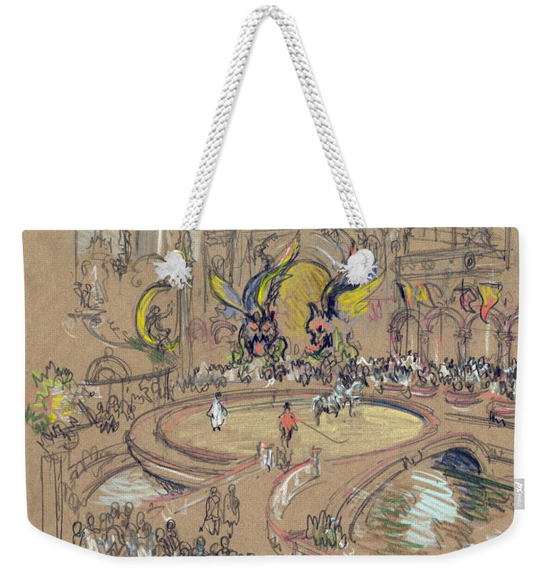 1906 Weekender Tote Bag featuring the drawing New York, Coney Island, C1906. by Granger