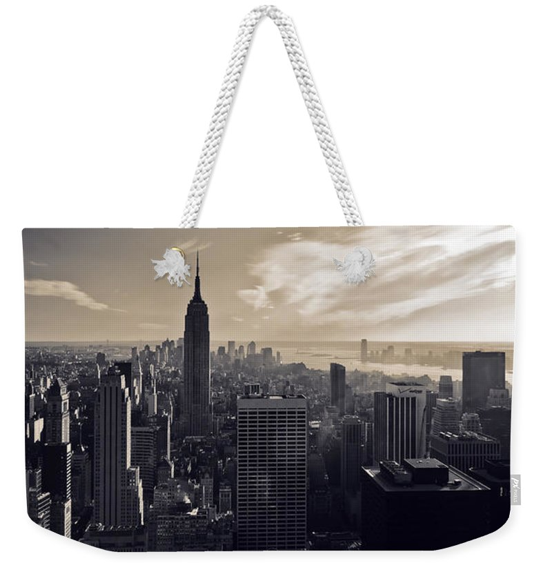 New York Weekender Tote Bag featuring the photograph New York by Dave Bowman