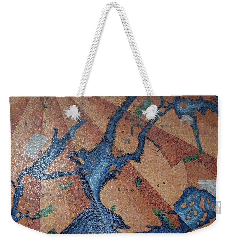 Times Square Weekender Tote Bag featuring the photograph New York In Mosaic by Rob Hans