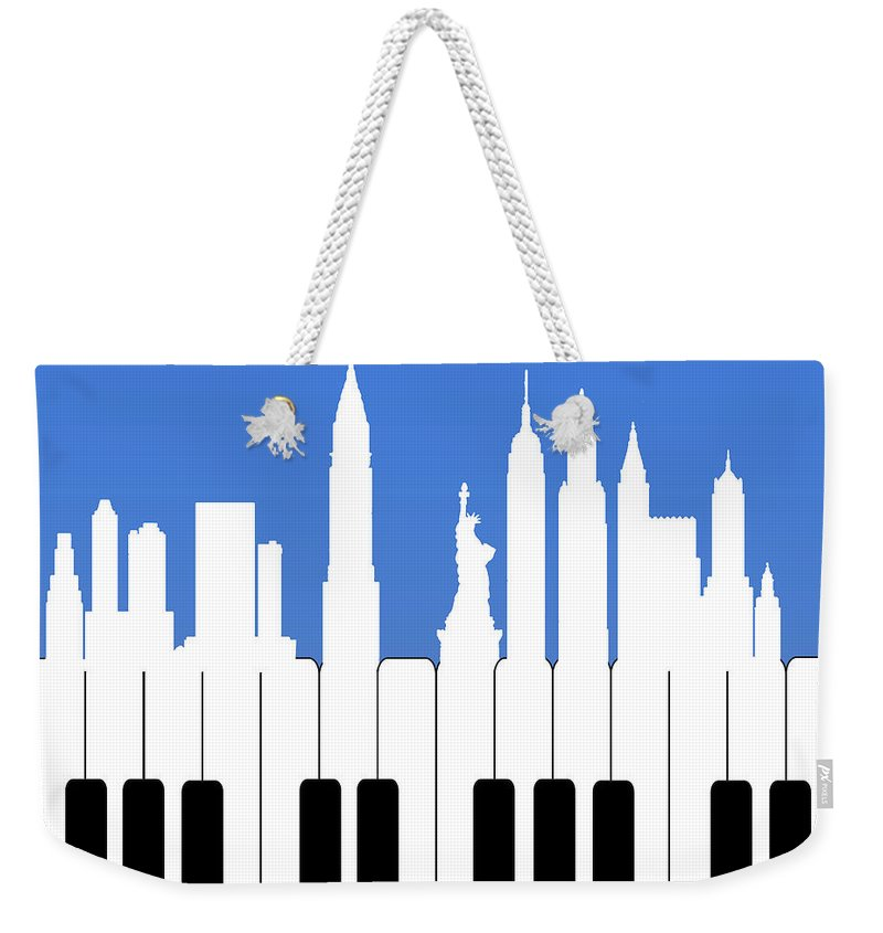Record Weekender Tote Bag featuring the painting New York New York by Mark Ashkenazi