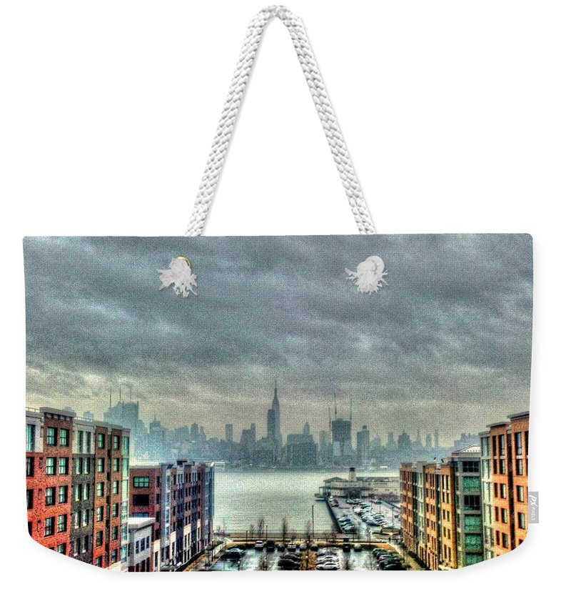 New York Weekender Tote Bag featuring the photograph New York Skyline by Debbi Granruth