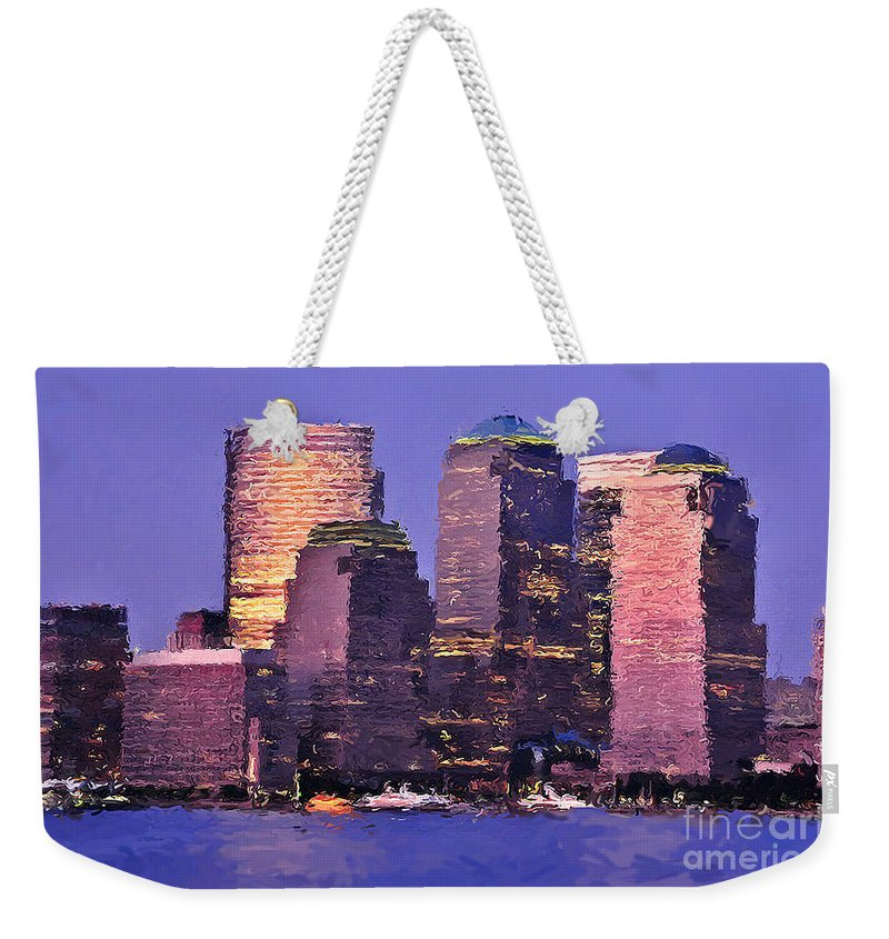 Abstract Expressionism Weekender Tote Bag featuring the photograph New York Skyline by Henry J Yasses