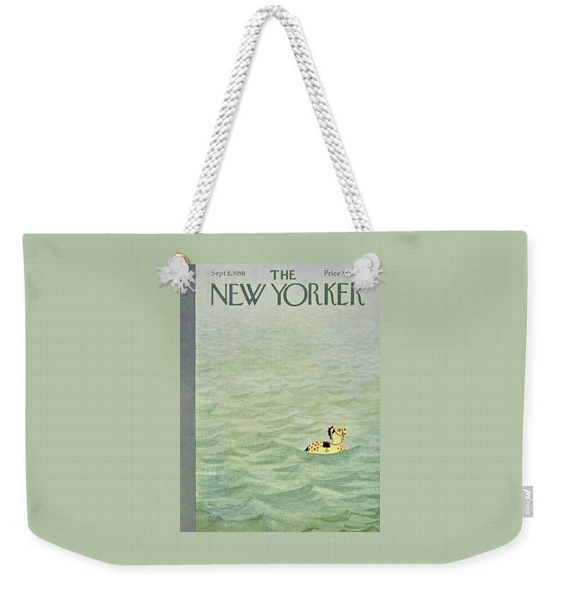 ebea2e96db New Yorker September 5 1959 Weekender Tote Bag for Sale by Charles Martin