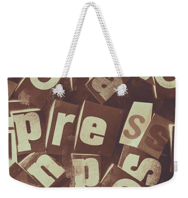 Journalism Photographs Weekender Tote Bags