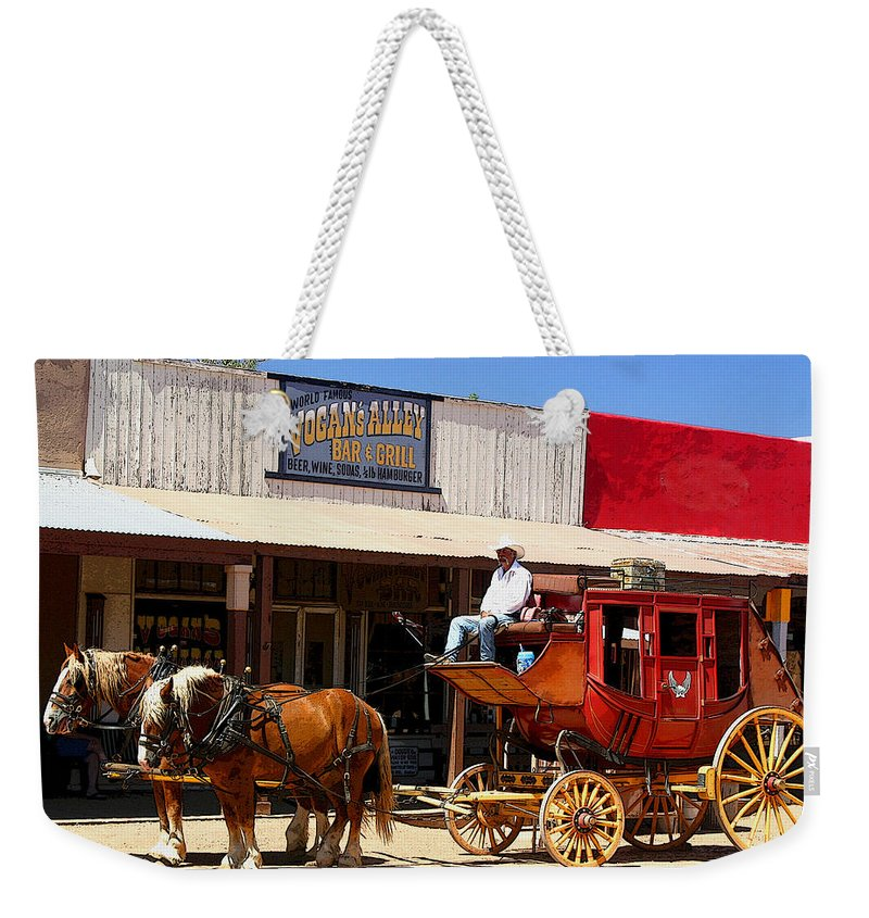 Stage Weekender Tote Bag featuring the photograph Next Stop Bisbee by Joe Kozlowski