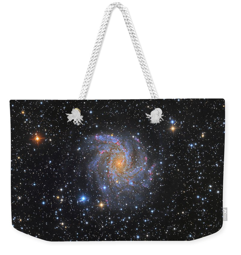 Deep Space Weekender Tote Bag featuring the photograph Ngc 6946, The Fireworks Galaxy by Michael Miller