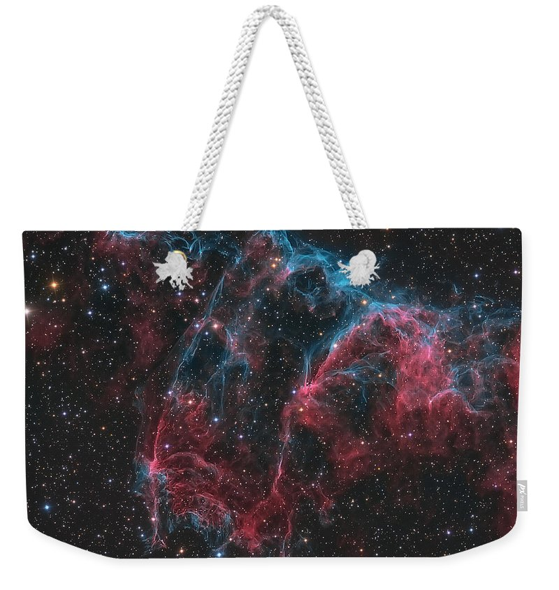 Cygnus Loop Weekender Tote Bag featuring the photograph Ngc 6995, The Bat Nebula by Michael Miller