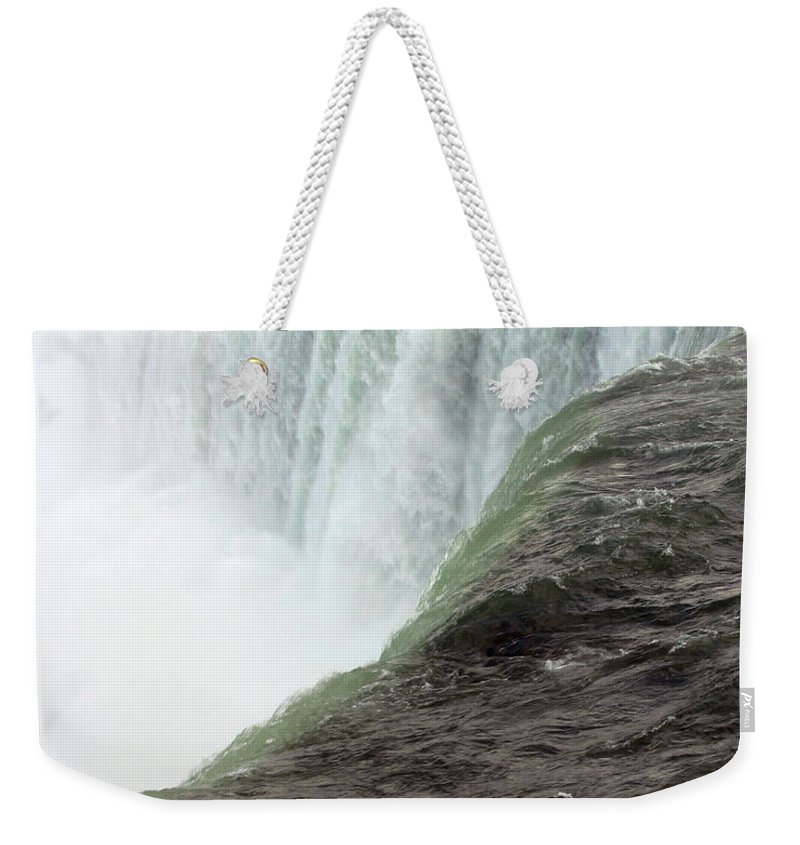 Niagara Falls Weekender Tote Bag featuring the photograph Niagara Falls 1 by Anthony Jones