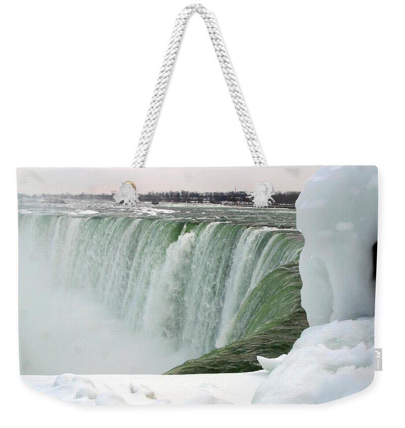 Niagara Falls Weekender Tote Bag featuring the photograph Niagara Falls 2 by Anthony Jones