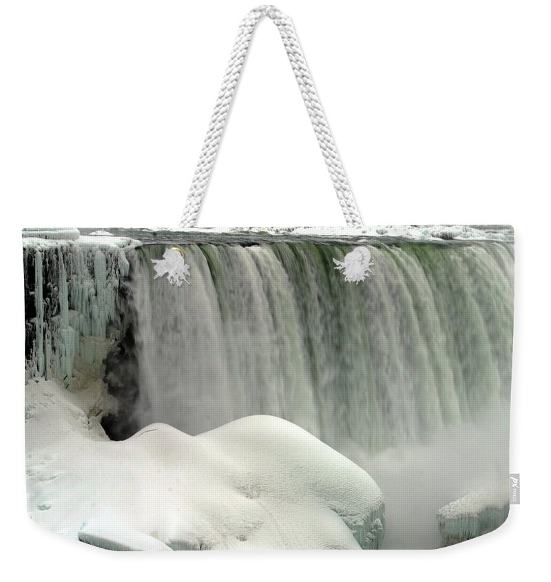 Landscape Weekender Tote Bag featuring the photograph Niagara Falls 3 by Anthony Jones