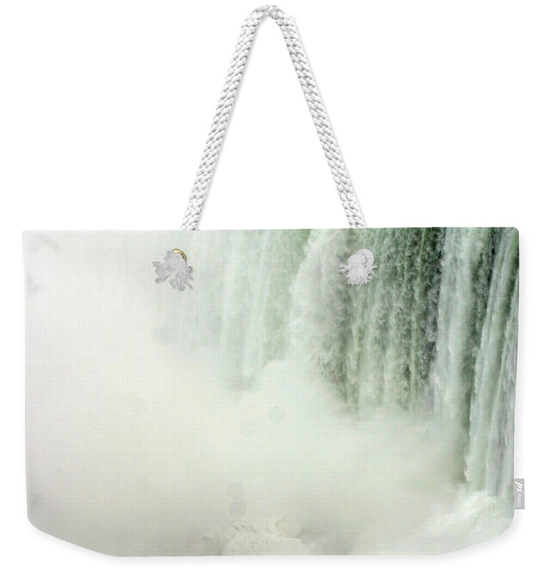 Landscape Weekender Tote Bag featuring the photograph Niagara Falls 4 by Anthony Jones