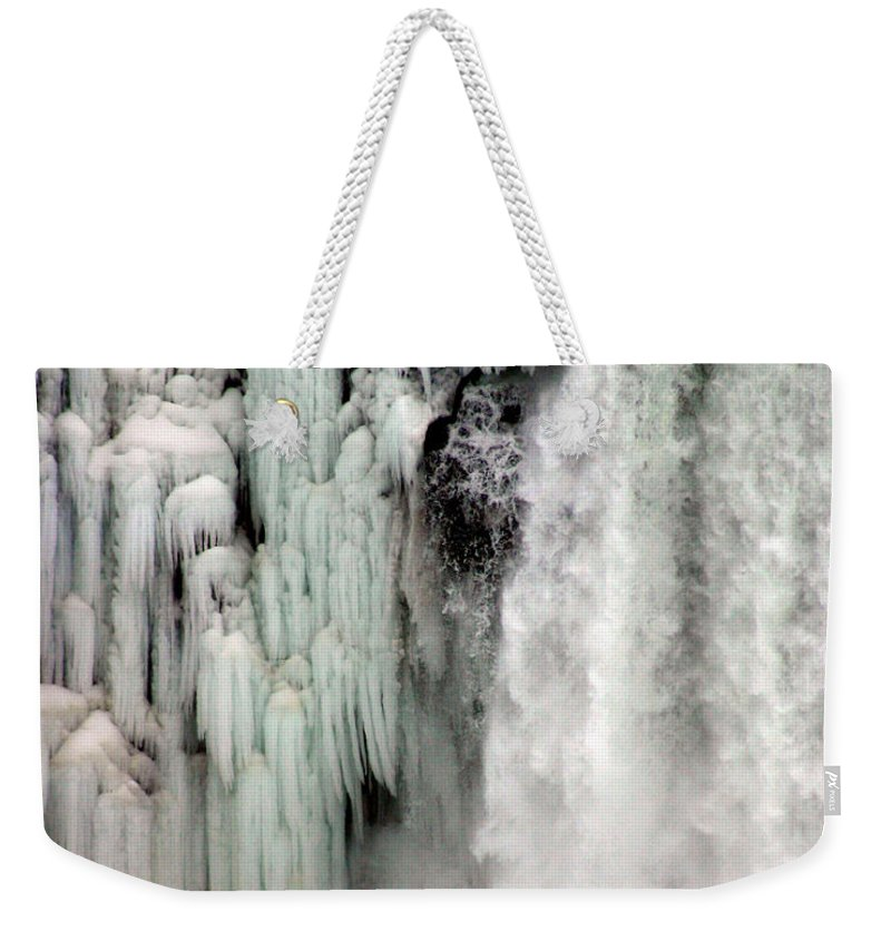 Landscape Weekender Tote Bag featuring the photograph Niagara Falls 5 by Anthony Jones