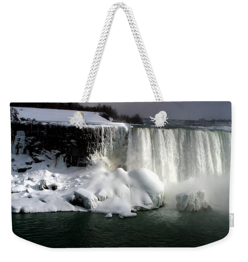 Landscape Weekender Tote Bag featuring the photograph Niagara Falls 6 by Anthony Jones