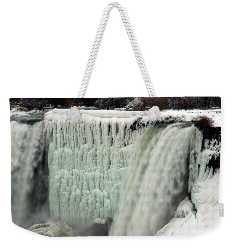 Landscape Weekender Tote Bag featuring the photograph Niagara Falls 7 by Anthony Jones
