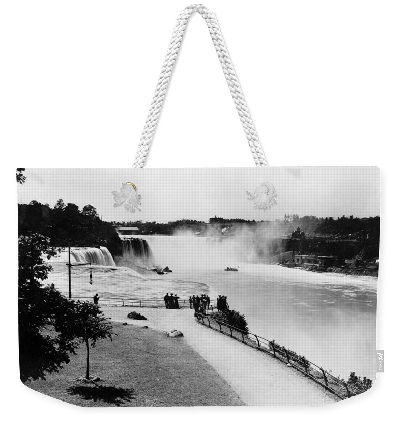 1905 Weekender Tote Bag featuring the photograph Niagara Falls, C1905 by Granger
