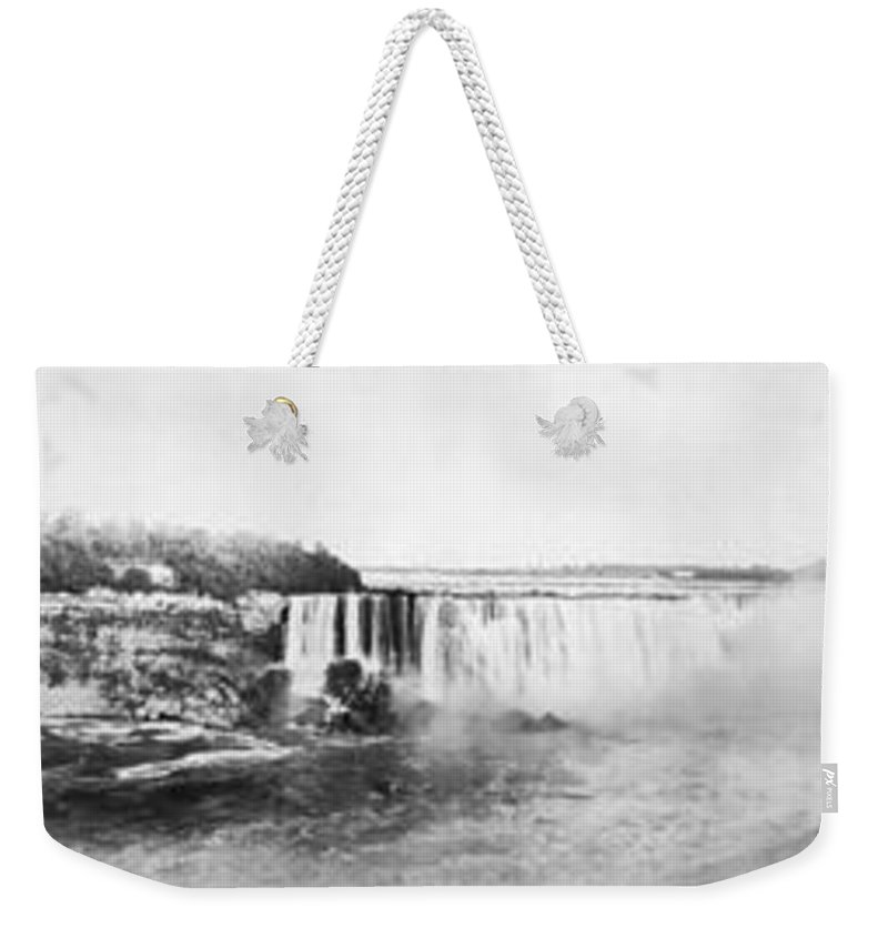 1909 Weekender Tote Bag featuring the photograph Niagara Falls, C1909 by Granger