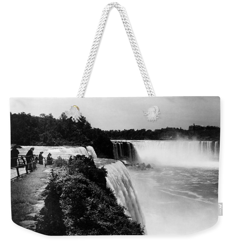 1910 Weekender Tote Bag featuring the photograph Niagara Falls, C1910 by Granger