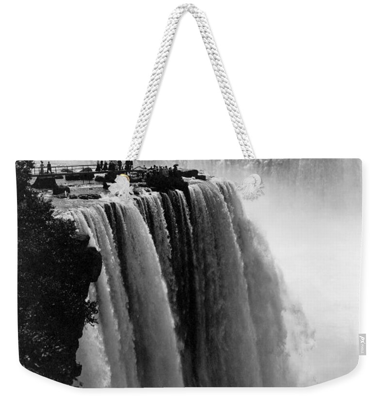 1911 Weekender Tote Bag featuring the photograph Niagara Falls, C1911 by Granger