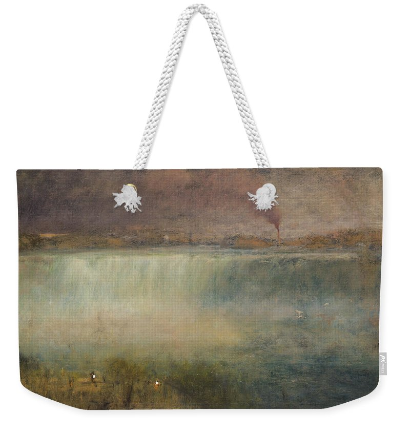 George Inness Weekender Tote Bag featuring the painting Niagara by George Inness