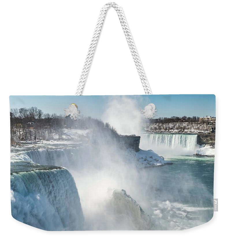 Usa Weekender Tote Bag featuring the photograph Niagara Up Close by Framing Places