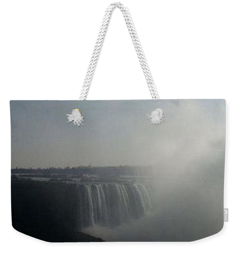 Photo Weekender Tote Bag featuring the photograph Niagra Falls Canada by Sandra Harrison