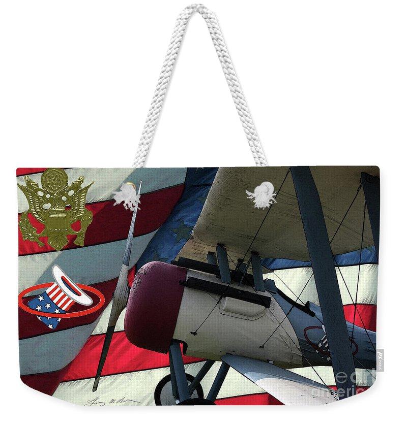 Nieuport 28c Weekender Tote Bag featuring the digital art Nieuport 28c Hat In The Ring by Tommy Anderson