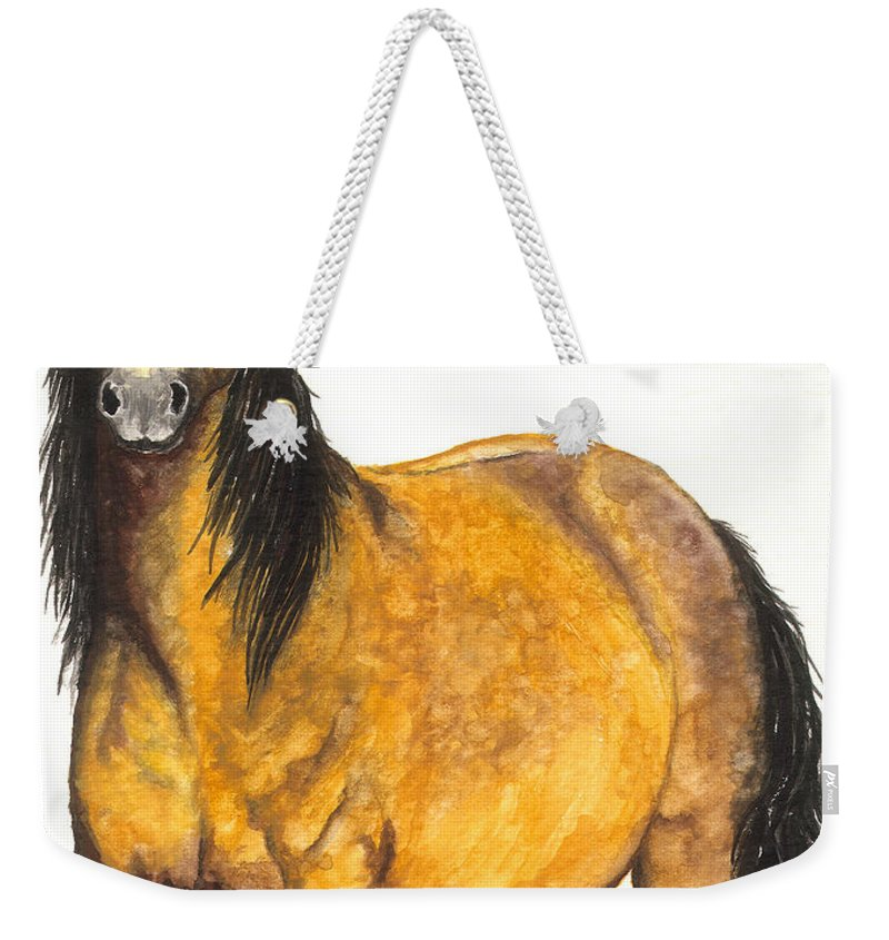Horse Weekender Tote Bag featuring the painting Nifty by Kristen Wesch