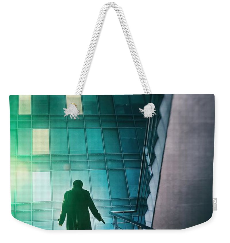 Agent Weekender Tote Bag featuring the photograph Night Agent by Carlos Caetano