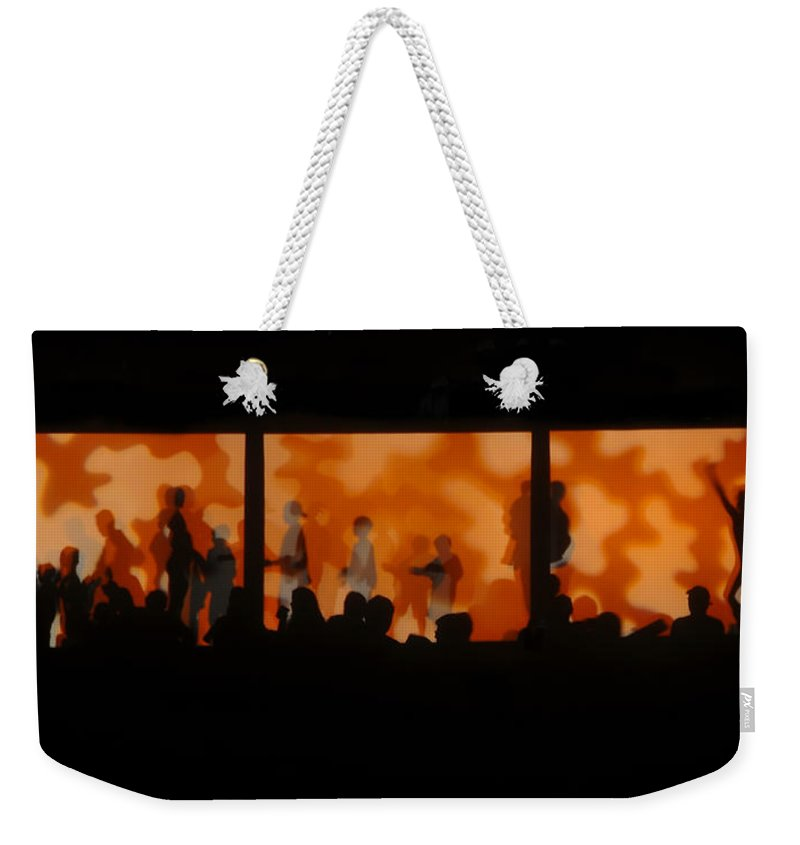 Dancing Weekender Tote Bag featuring the photograph Night Dance by David Lee Thompson
