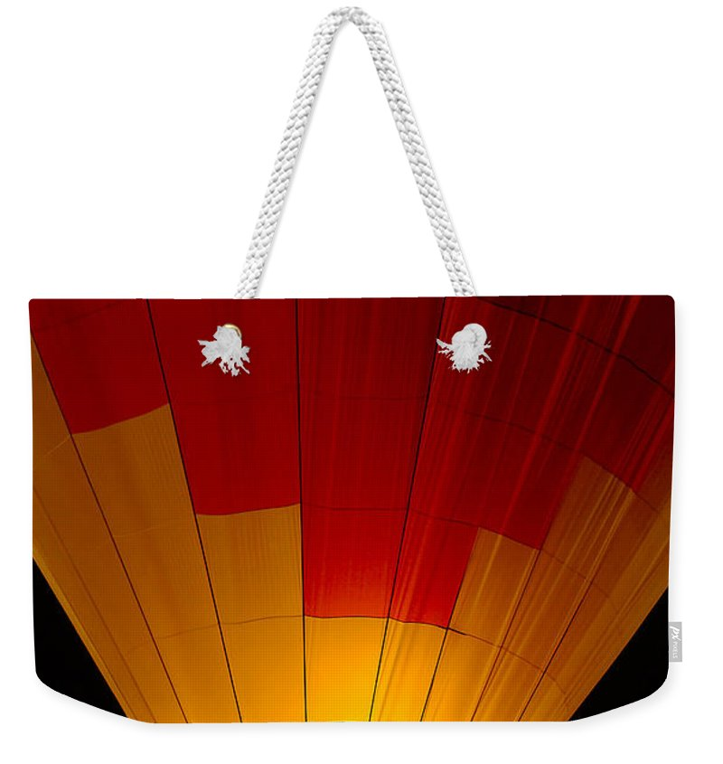 Balloon Weekender Tote Bag featuring the photograph Night Flight by Mike Dawson