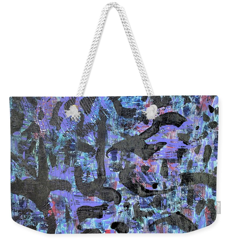 Weekender Tote Bag featuring the painting Night Flight by Pam Roth O'Mara