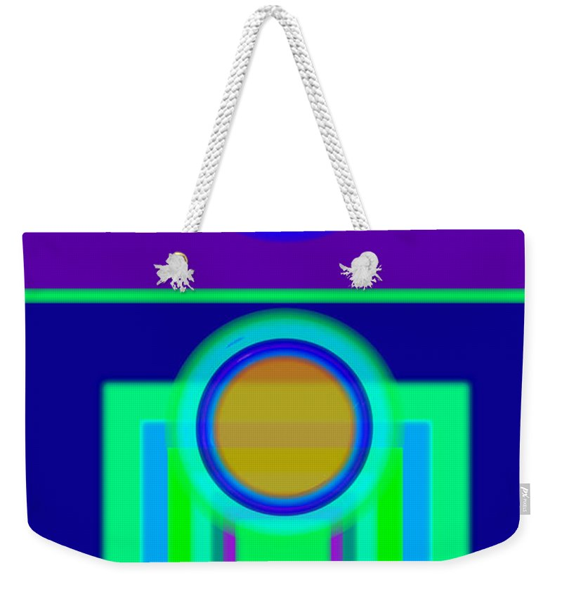 Classical Weekender Tote Bag featuring the digital art Night Game by Charles Stuart