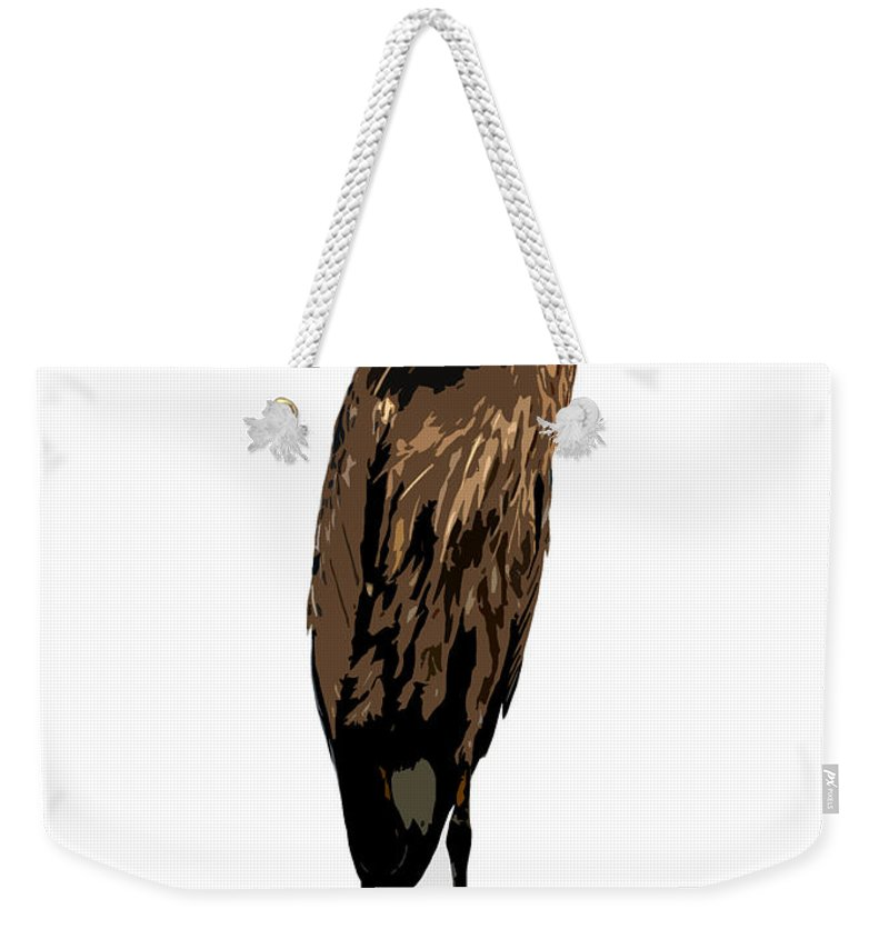 Yellow Crowned Night Heron Weekender Tote Bag featuring the photograph Night Heron by David Lee Thompson