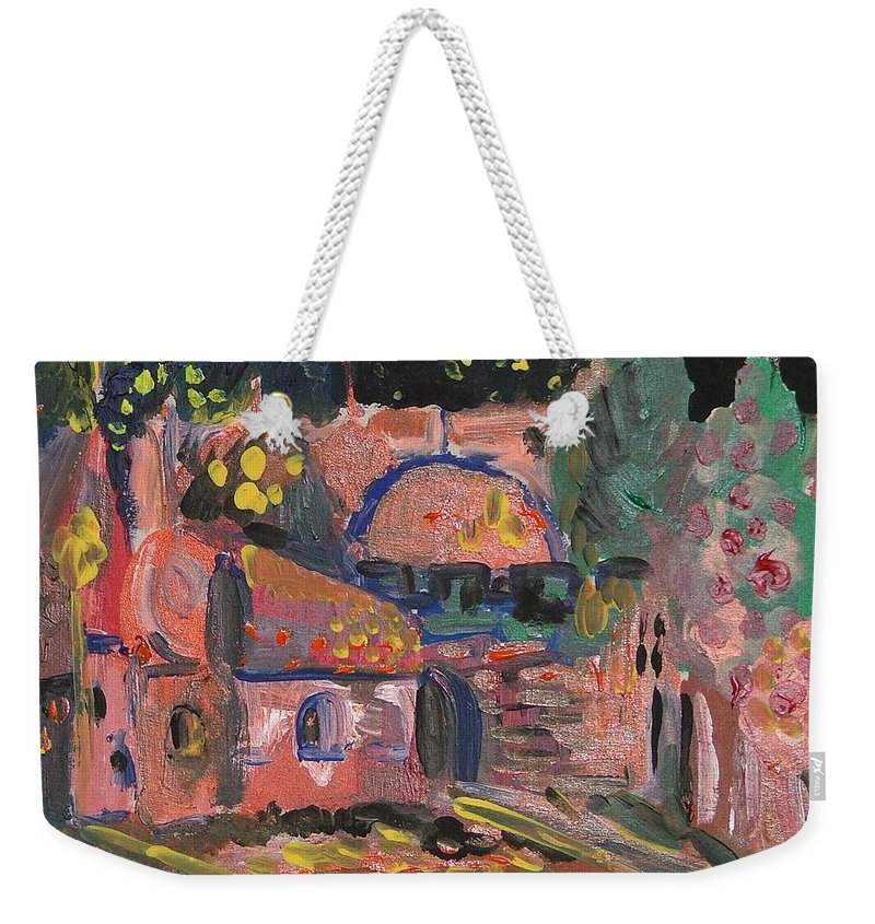 Landscape Weekender Tote Bag featuring the painting Night Landscape by Rita Fetisov