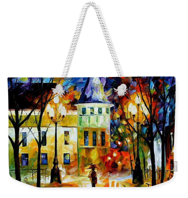Afremov Weekender Tote Bag featuring the painting Night Magic by Leonid Afremov