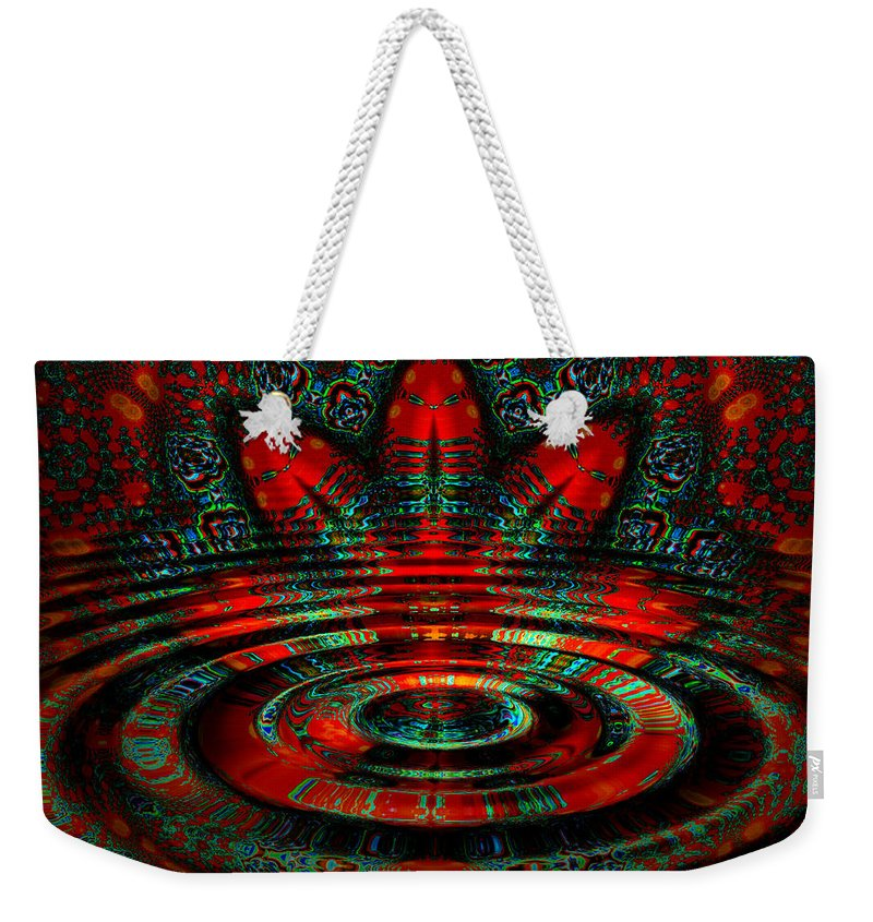 Ripple Weekender Tote Bag featuring the digital art Night Moves by Robert Orinski