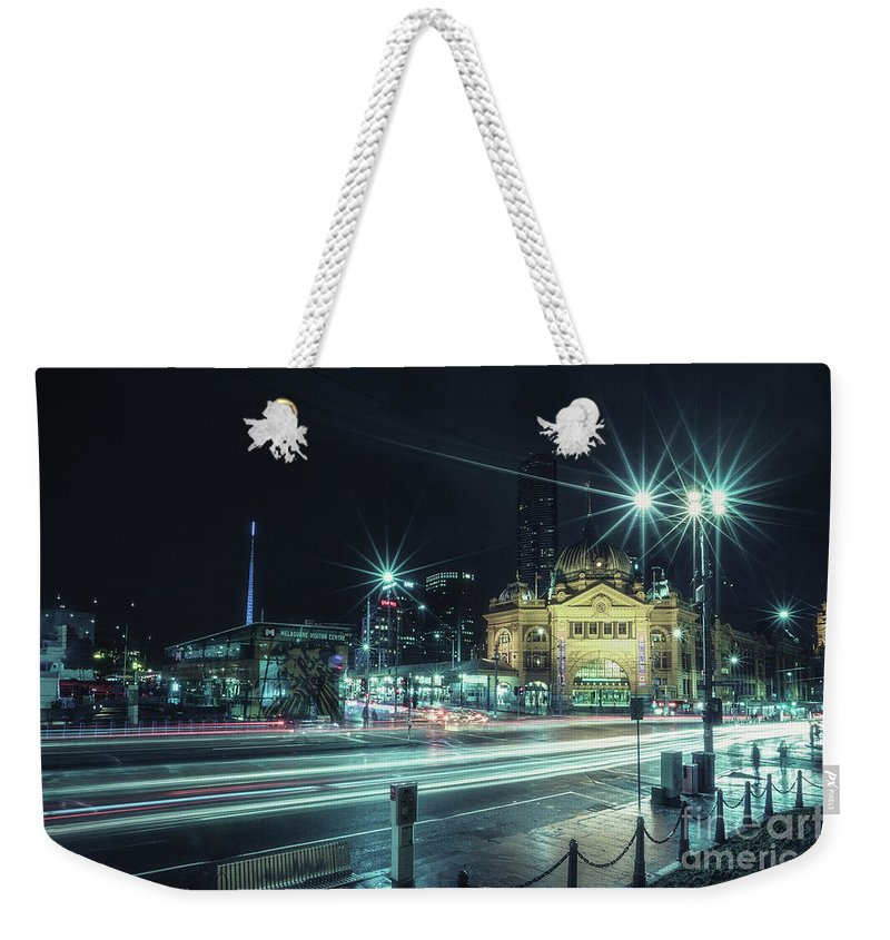 Kremsdorf Weekender Tote Bag featuring the photograph Night Ride by Evelina Kremsdorf