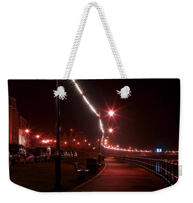 Night Weekender Tote Bag featuring the photograph Night Road by Svetlana Sewell